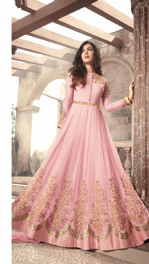 Pink Embellished Gown